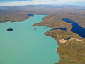Aerial view of Lake Tekapo, New Zealand Royalty Free Stock Photo