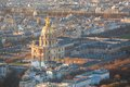 Aerial view of les invalides in paris Stock Images