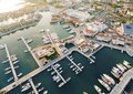Aerial view of Limassol Marina, Cyprus Royalty Free Stock Photo