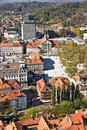 Aerial view of Ljubljana Stock Photo