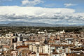 Aerial view of lleida spain with blue cloudy sky Royalty Free Stock Images