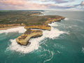 Aerial view of the London Bridge rock formation Royalty Free Stock Photo