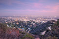 Aerial view of los angeles city from runyon canyon park concept about traveling nature and backgrounds Royalty Free Stock Image