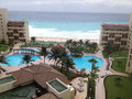 Aerial View Of Luxury Resort In Cancun Royalty Free Stock Photo
