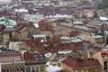 Aerial view of Lviv Royalty Free Stock Images