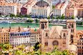 Lyon cityscape with Saint Jean Cathedral, France Royalty Free Stock Photo