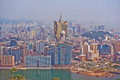 Aerial view Macau, China Stock Photography