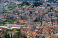 Aerial view of main city square on Hvar Royalty Free Stock Photo