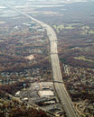 Aerial view of major highway in new jersey Stock Photos
