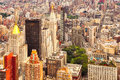 Aerial view of Manhattan, New York City, USA Royalty Free Stock Photo