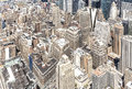 Aerial view of Manhattan's downtown, NYC. Royalty Free Stock Photo