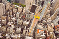 Aerial view of Manhattan scyscrapers and residential buildings Royalty Free Stock Photo