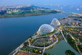 Aerial view of Marina Bay of Singapore Stock Photography