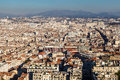 Aerial view of marseille city and mountains in background france Stock Photo
