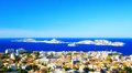 Aerial View of Marseille France Royalty Free Stock Photo