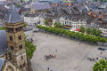 Aerial view on medieval Maastricht Royalty Free Stock Images