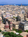 Aerial view of Mediterranean city Royalty Free Stock Photo