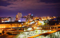 Aerial view of memphis downtown night tennessee Royalty Free Stock Photos