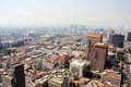Aerial view of Mexico City Royalty Free Stock Photo