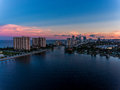 Aerial view of miami hollywood with hotels and apartments Royalty Free Stock Images