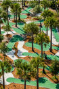 Aerial view of a miniature golf course an the neptune park located on st simons island georgia Royalty Free Stock Photography