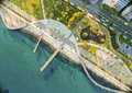 Aerial view of Molos, Limassol, Cyprus Royalty Free Stock Photo