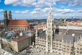 Aerial view Munich Royalty Free Stock Photo