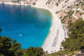 Aerial view of Myrtos beach on Kefalonia island Royalty Free Stock Photo