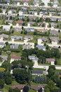 Aerial View Neighborhood Houses, Homes, Residences Royalty Free Stock Photos