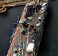 Aerial view of New York aircraft carrier museum Royalty Free Stock Photos