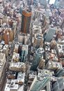 Aerial view of New York City Manhattan  with skyscrapers and streets Royalty Free Stock Photo