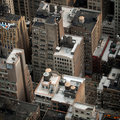 Aerial view of NYC buildings Royalty Free Stock Images