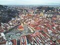 Old center of Brasov. Aerial view