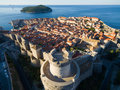 Aerial view of the old city Dubrovnik Royalty Free Stock Photo