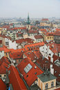 Aerial view of Old Town Square Royalty Free Stock Photography