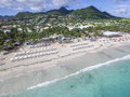 Aerial view from Orient Bay in Saint Martin