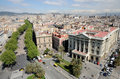Aerial view over Barcelona, Spain Stock Photography