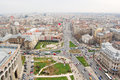 Aerial view over bucharest center romania as seen from the intercontinental hotel top Stock Photos