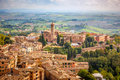 Aerial view over city of siena italy Royalty Free Stock Photos