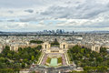 Aerial view over Paris Royalty Free Stock Photo