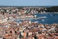 Aerial view over Rovinj, Croatia Royalty Free Stock Photos