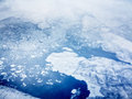 Aerial view of pack ice Royalty Free Stock Photo