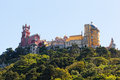 Aerial view of palace da pena sintra lisbon portugal european travel Royalty Free Stock Photos