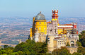 Aerial view of palace da pena sintra lisbon portugal european travel Stock Photos