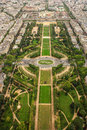 Aerial view of paris architecture from the eiffel tower europa Royalty Free Stock Image