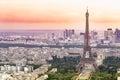 Aerial View of Paris. Royalty Free Stock Photo