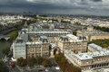 Aerial view of paris france Royalty Free Stock Photography