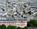 Aerial view of paris from the sacre ceure cathedral Stock Photos
