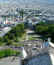 Aerial view of paris from the sacre ceure cathedral Stock Image