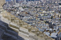 Aerial view of paris from the sacre coeur basilica Royalty Free Stock Images